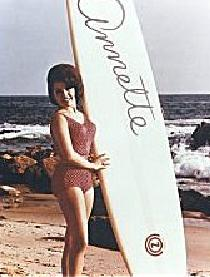 Annette with surfboard
