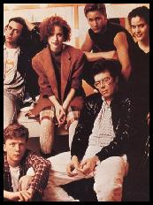 Director John Hughes With The Cast